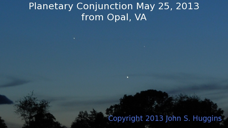 Triple Planetary Conjunction May 25, 2013